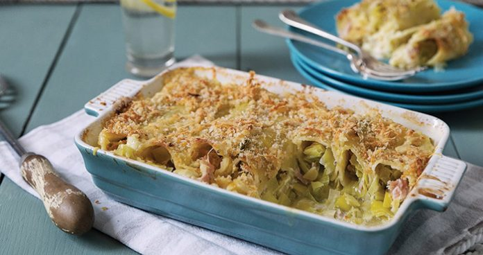 Baked ham and leek cannelloni Easy Food