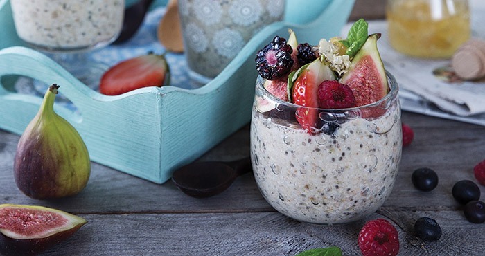 Fruit-and-fibre overnight oats Easy Food
