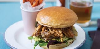 Pulled chicken, avocado and onion baps | Easy Food