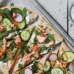 Salmon and vegetable flatbreads | Easy Food