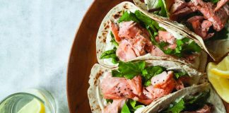salmon wraps lemon yoghurt Easy Food