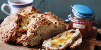 Soda bread with whiskey soaked raisins and whiskey marmalade | Easy Food