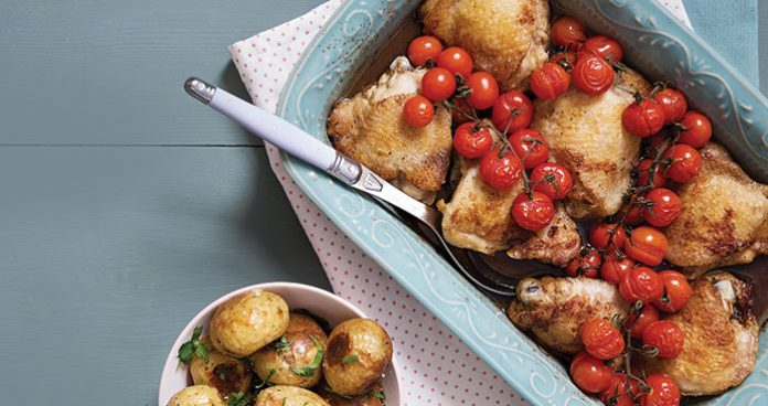 Tomato and balsamic chicken thighs | Easy Food