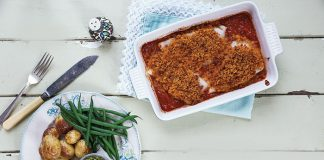 Baked hake with a chorizo crumb crust | Easy Food