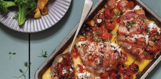 Chicken with thyme, goat's cheese, and bacon Easy Food
