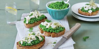 Cloonconra tartines with smashed lemon and mint peas Easy Food