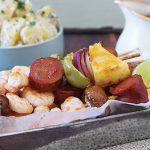 Prawn and chorizo skewers | Easy Food