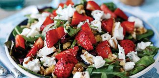 Balsamic and black pepper strawberry salad