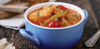 Brazilian salmon stew