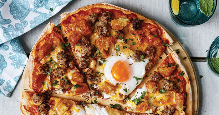 Breakfast for dinner pizza Easy Food