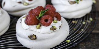 Neff's Brown sugar and pistachio meringues