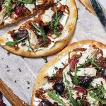 Chicken, grape and caramelised onion flatbreads Easy Food