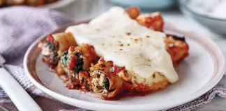 Chicken, spinach, Ricotta cannelloni Easy Food