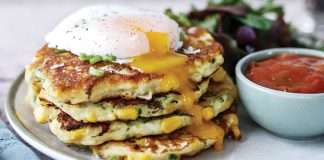 Courgette and corn fritters Easy Food