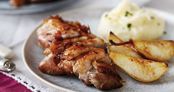 Crispy duck breasts with duck and shallots Easy Food