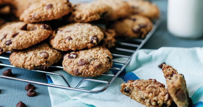 Healthier option chocolate chip cookies