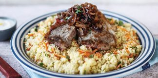 Lamb chops with couscous salad and lemon yoghurt Easy Food