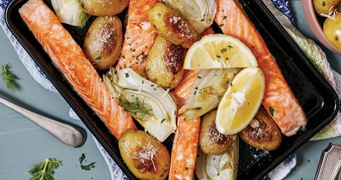 One-tray salmon, fennel, and potatoes Easy Food