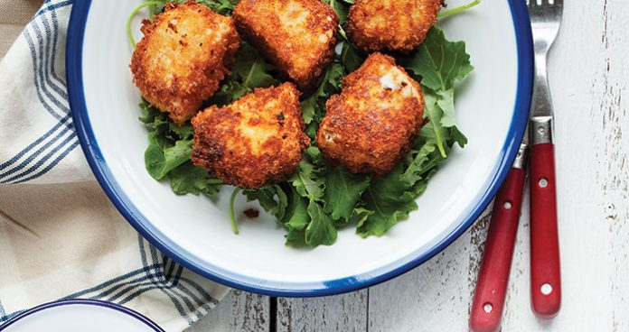 Crispy goats cheese fritters Easy Food