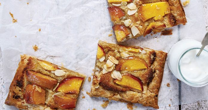 Peach and almond tart Easy Food