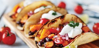 Roasted squash tacos with pico de gallo Easy Food