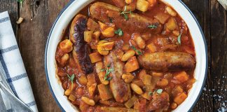Sausage and cannellini bean casserole Easy food