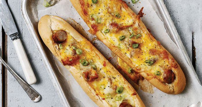 Sausage, egg and cheese breakfast boats Easy Food