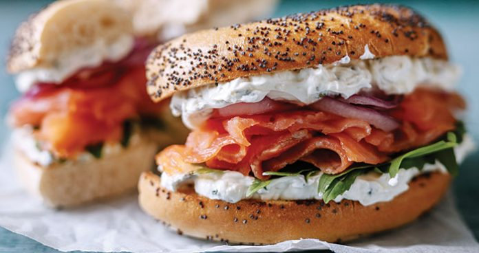 Smoked salmon deli bagel Easy Food