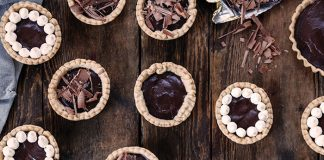 Spiced dark chocolate tartlettes