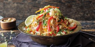 Spicy peanut prawn noodles Easy Food