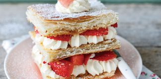 Strawberries and cream stacker Easy Food