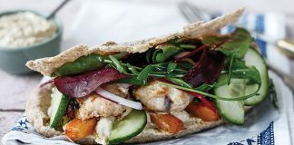 Turkey pittas with cumin carrots Easy Food