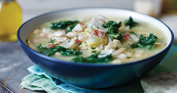 Tuscan white bean and kale minestrone