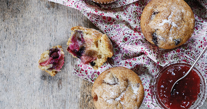 Vegan berry muffins Easy Food