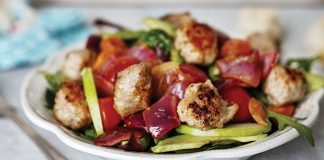 Warm sausage salad with mustard dressing Easy Food