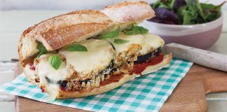 Aubergine parmigiana melts. Easy Foods