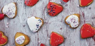 Love heart biscuits Easy Food