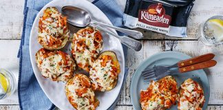 Twice baked Cheddar Buffalo chicken potatoes Kilmeaden Easy Food
