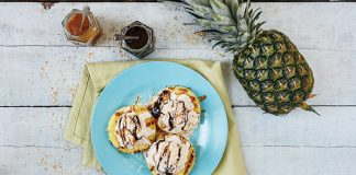 Barbecued pineapple sundaes Easy Food
