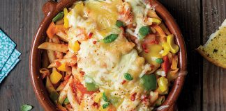 Cheesy roasted vegetable pasta Easy Food