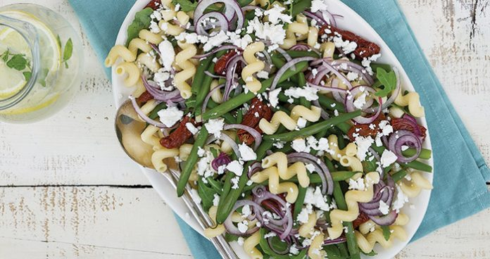 Goats cheese pasta salad Easy Food