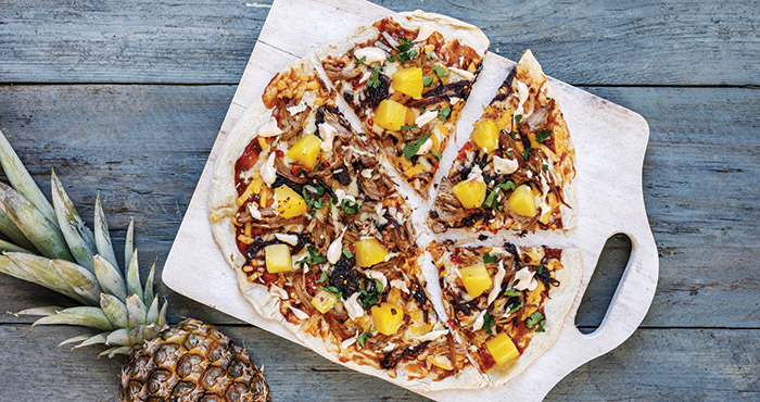 Pulled pork pizza with pineapple Easy Food