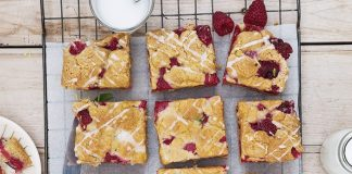Raspberry lemon crumb bars Easy Food