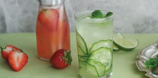 Gin cucumber fizz Easy Food
