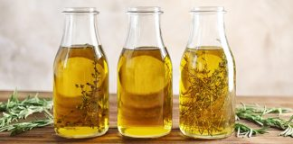 Homemade fresh herb oil Easy Food