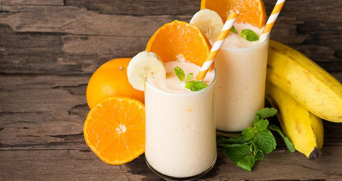 Orange banana smoothie Easy Food