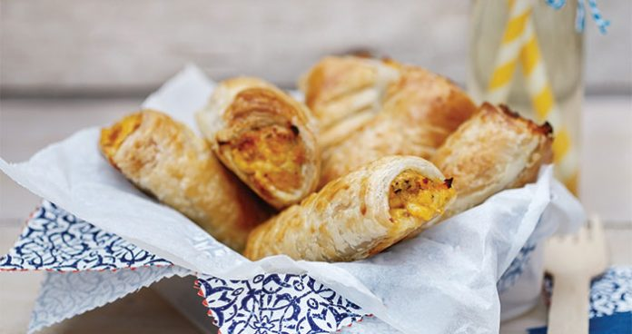 Chicken cheese sweetcorn pastry rolls - Easy Food
