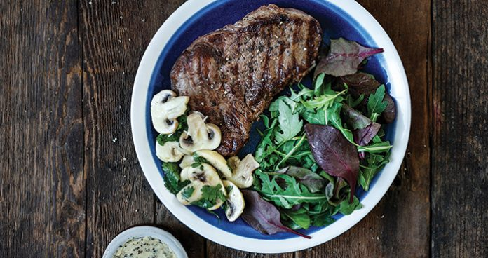 Fillet steaks with mushroom ceviche Easy Food