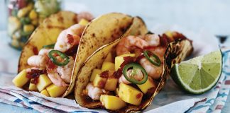 Prawn and mango tacos Easy Food