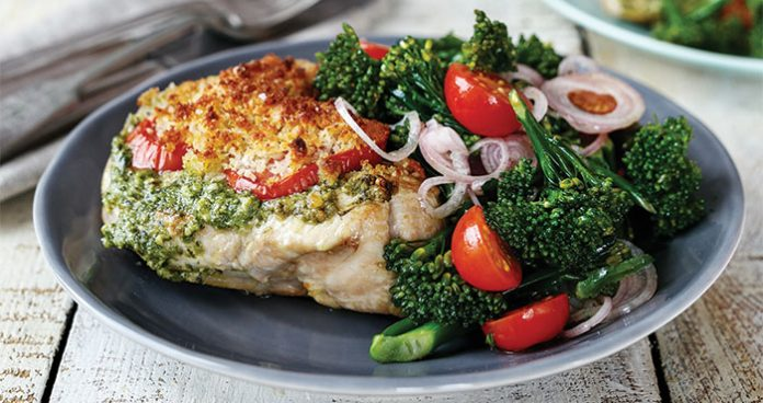 Turkey steaks with broccoli salad Easy Food